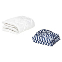 Porta Crib Mattress Protector and 2 Chevron Sheets Combo