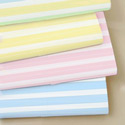 Pastel Stripes Cotton Porta Crib Sheet